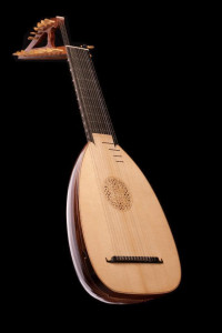 for sale: 14-chorus baroque lute, 70cm, by Tihamér Romanek-1b