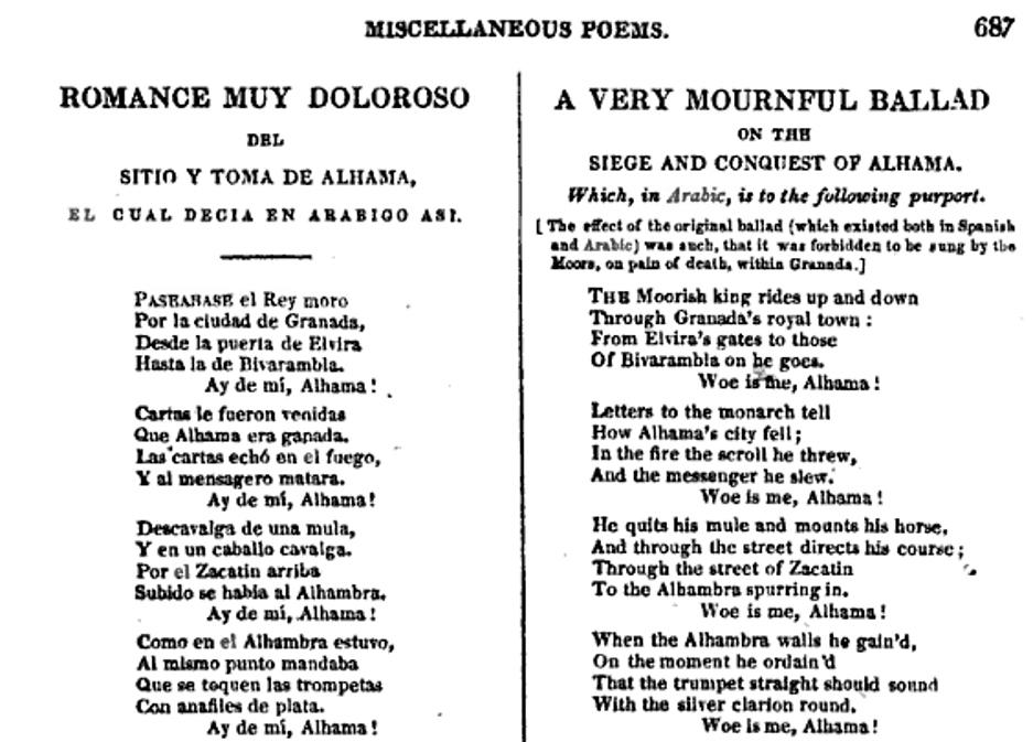 Byron: A Very Mournful Ballad (Romance muy doloroso)