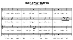 Francis Pilkington: Rest Sweet Nymphs. kotta