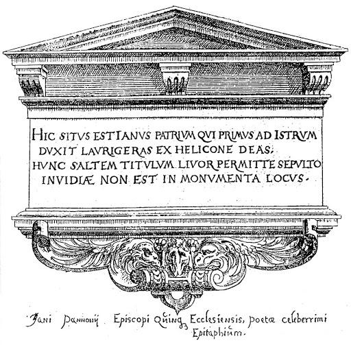 Janus Pannonius sírfelirata