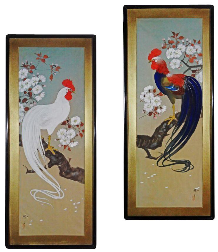 Két kakas - festmények