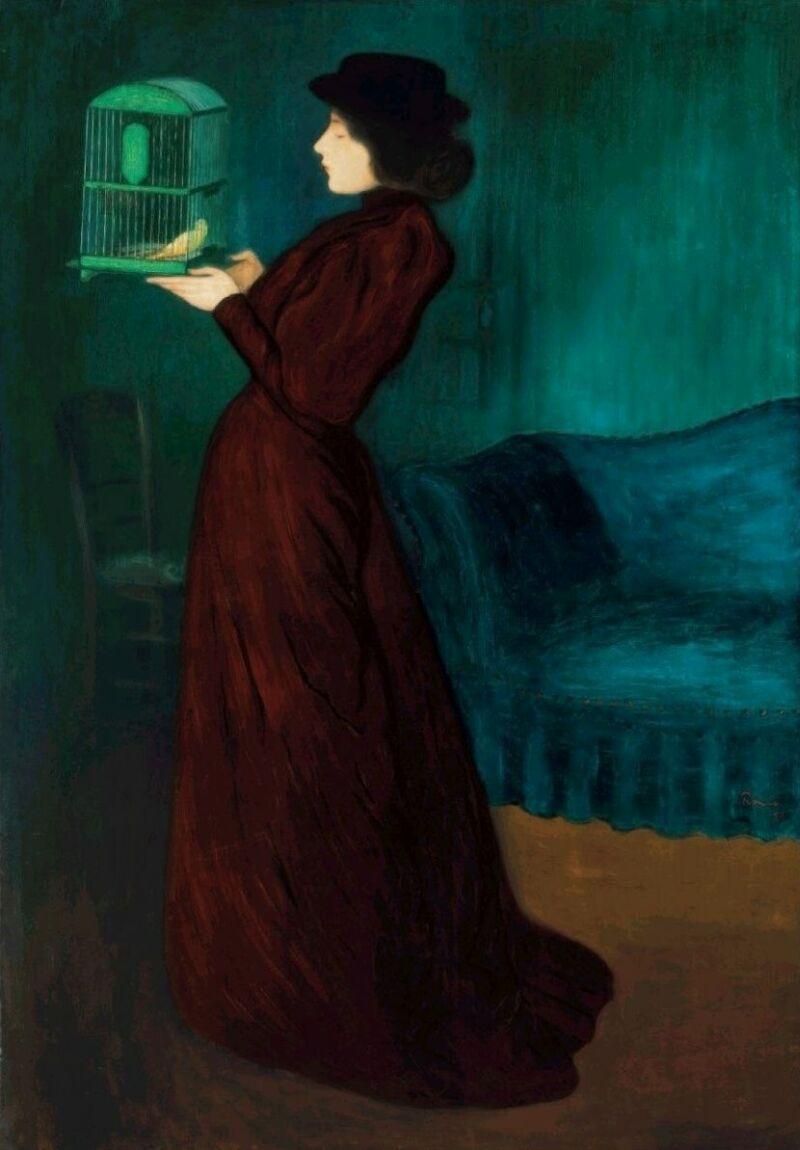 Rippl-Rónai József: Woman with Birdcage - Kalitkás nő